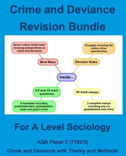 A-Level Sociology Crime and Deviance Revision Bundle