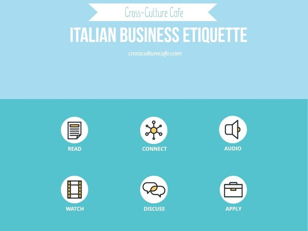 Cross-Cultural Training for ESL/EFL: Italian Business Etiquette lesson PPT and PDF