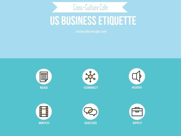 Cross-Cultural Training for ESL/EFL: US Business Etiquette lesson PPT and PDF