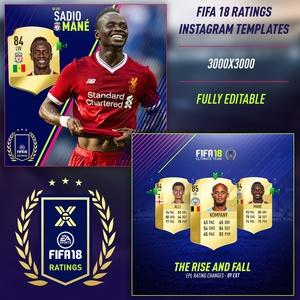 FIFA 18 RATINGS INSTAGRAM TEMPLATES