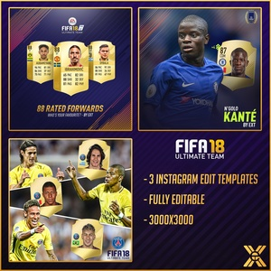 FIFA 18 INSTAGRAM EDITS PACK