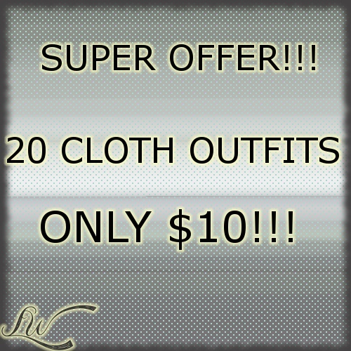 SUPER OFFER!!! 20 CLOTH OUTFITS ONLY $10!!