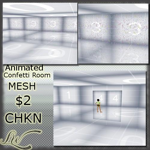 Animated Confetti Room MESH