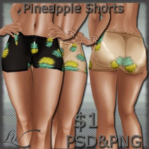 Pineapple Shorts-2 colors
