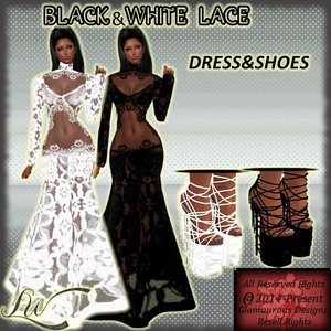 Black&White Lace-WITH RESELL RIGHTS!!!