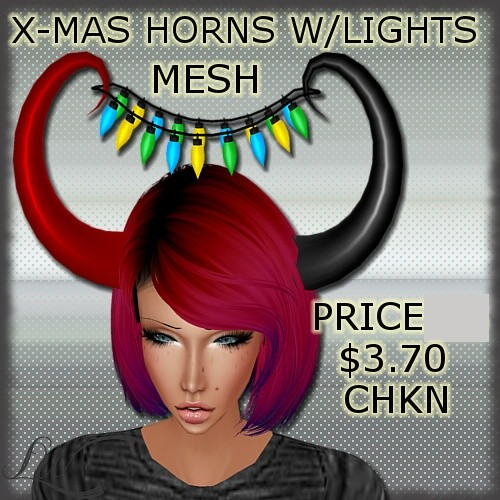 X-Mas Horns With Lights MESH