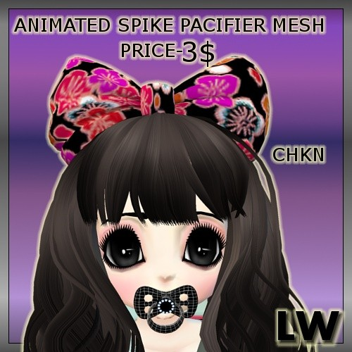 Animated Spike Pacifier MESH