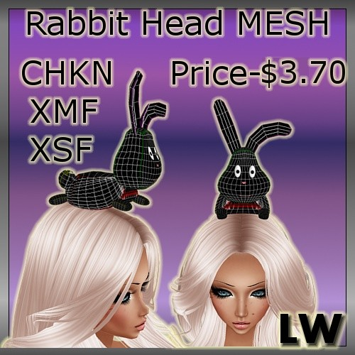 Rabbit On Head MESH