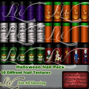 Halloween Nail Pack-WITH RESELL RIGHTS!