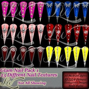 Glam Nail Pack1-With RESELL RIGHTS