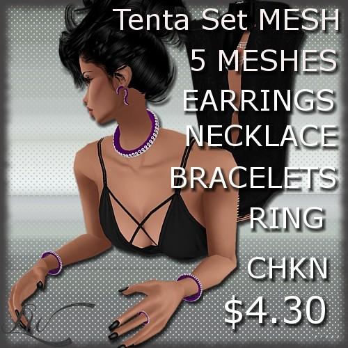 Tentacles Set MESH-5 Meshes!