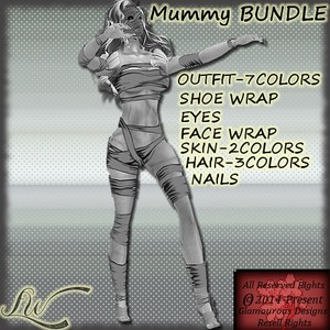 Mummy BUNDLE-7 Colors WITH RESELL RIGHTS
