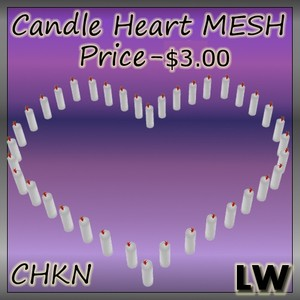 Candle Heart MESH (Funiture)