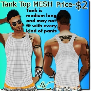 Tank Top Male MESH