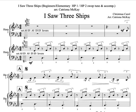 I Saw Three Ships, Beginner/Elementary Showstopper! arr. C McKay