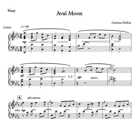Aval Moon - Catriona McKay, Harp Solo or Harp / Solo Violin / Strings