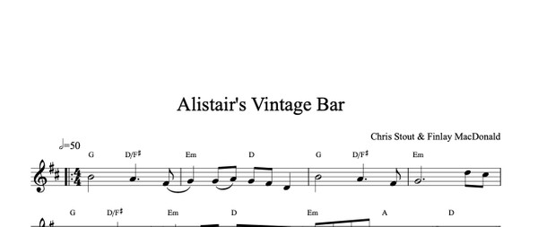 Alistair's Vintage Bar - Chris Stout & Finlay MacDonald, solo fiddle & mp3