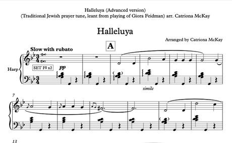 Halleluya, Jewish prayer tune Harp Solo arr. Catriona McKay