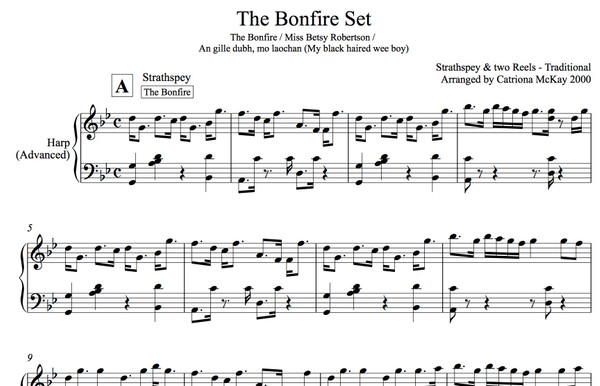 THE BONFIRE SET, traditional Scottish strathspey and reels,  arr. C McKay