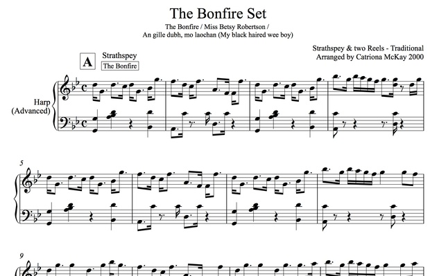 THE BONFIRE SET, traditional Scottish strathspey and reels,  arranged by Catriona McKay
