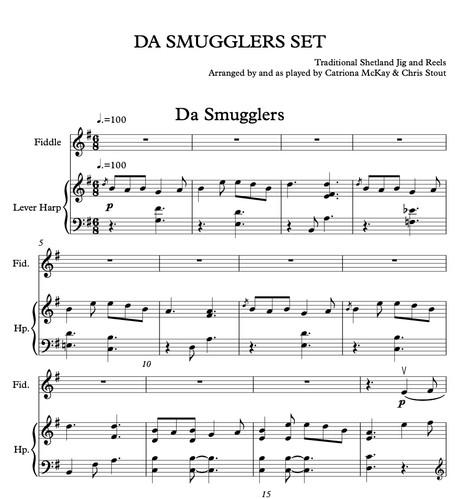 Da Smugglers Set (harp & fiddle duo)