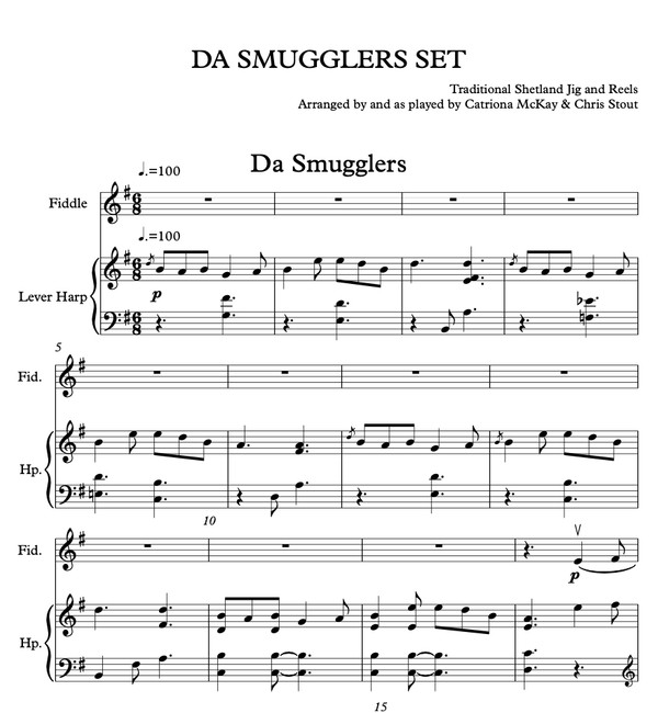Da Smugglers Set (harp & fiddle duo)