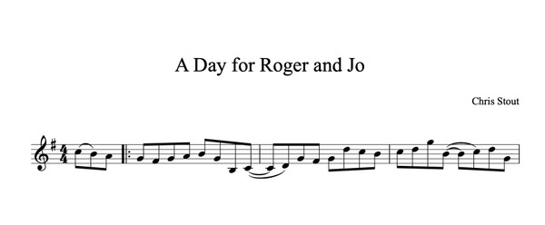 A Day for Roger & Jo - Chris Stout, solo fiddle & mp3