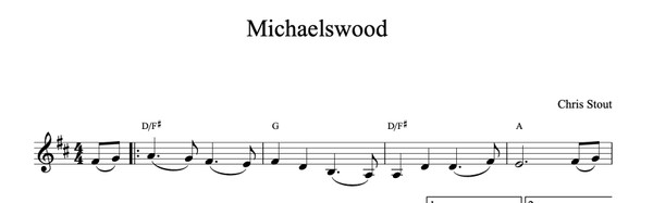 Michaelswood - Chris Stout, solo fiddle & mp3