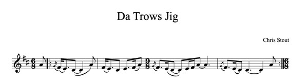 Da Trow's Jig - Chris Stout, solo fiddle & mp3