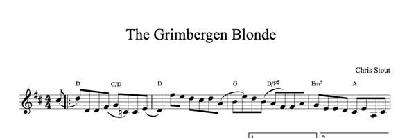 The Grimbergen Blonde - Chris Stout, solo fiddle & mp3
