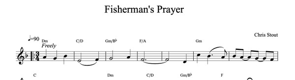 Fisherman's Prayer - Chris Stout, solo fiddle & mp3