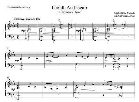Laoidh An lasgair, Fisherman's Hymn arr. C McKay