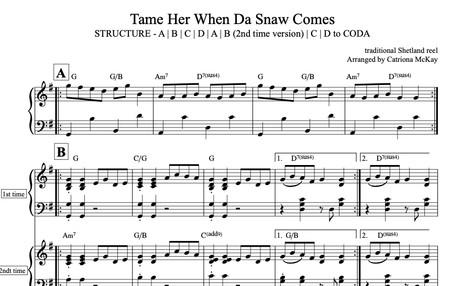 Tame Her When Da Snow Comes Arr. C McKay