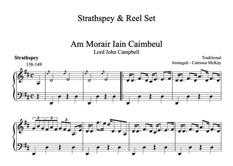 Lord John Campbell (Strathspey), Nameless Reel, The Cuckoo, INT LEVEL Arr. C McKay