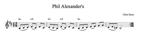 Phil Alexander's - Chris Stout, solo fiddle & mp3
