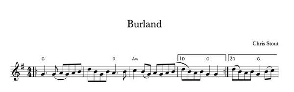 Burland - Chris Stout, solo fiddle & mp3