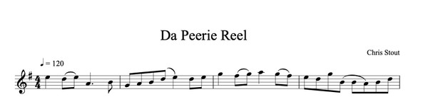 Da Perrie Reel - Chris Sout, solo fiddle & mp3