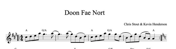 Doon fae Nort - Chris Stout & Kevin Henderson, solo fiddle & mp3