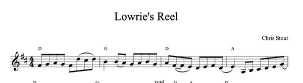 Lowrie's Reel - Chris Stout, solo fiddle & mp3