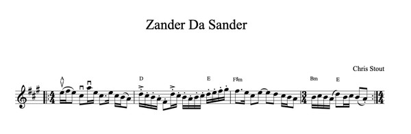 Zander Da Sander - Chris Stout, solo fiddle & mp3