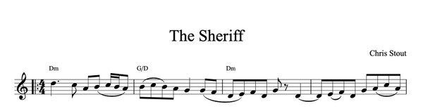 The Sheriff - Chris Stout solo, fiddle & mp3