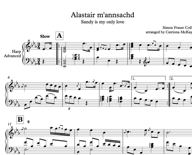 Alastair m'annsachd, traditional slow air from Scotland arranged by Catriona McKay