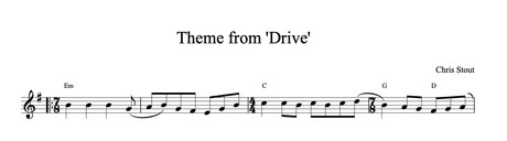 Theme from 'Drive' - Chris Stout solo fiddle & mp3