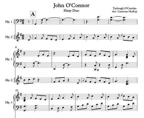John O'Connor & Planxty Irwin Ele/Int Hp Duo Arr. C McKay