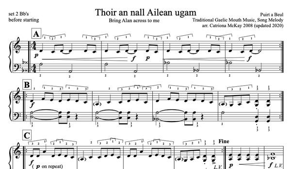 Thoir an nall Ailean ugam - Bring Alan Across to me arr. C McKay