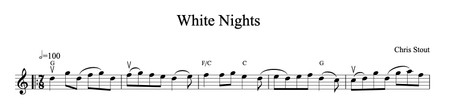 White Nights - Chris Stout, solo fiddle & mp3