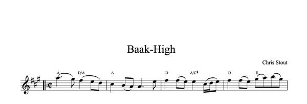 Baak-High - Chris Stout, solo fiddle & mp3
