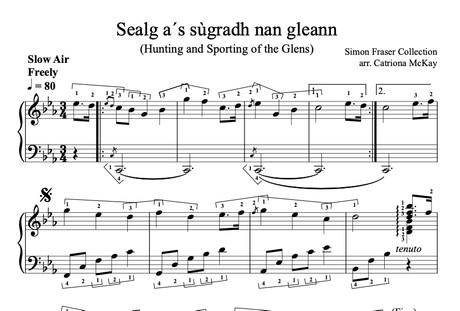 Sealg a ́s sùgradh nan gleann, Hunting and Sporting of the Glens, INT level, arr. C McKay
