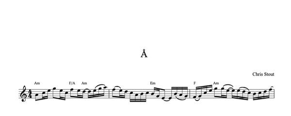 Å - Chris Stout, solo fiddle & mp3