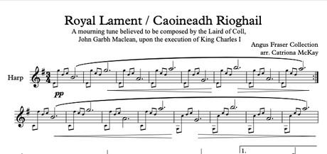 Royal Lament / Caoineadh Rioghail HP SOLO arr. C McKay